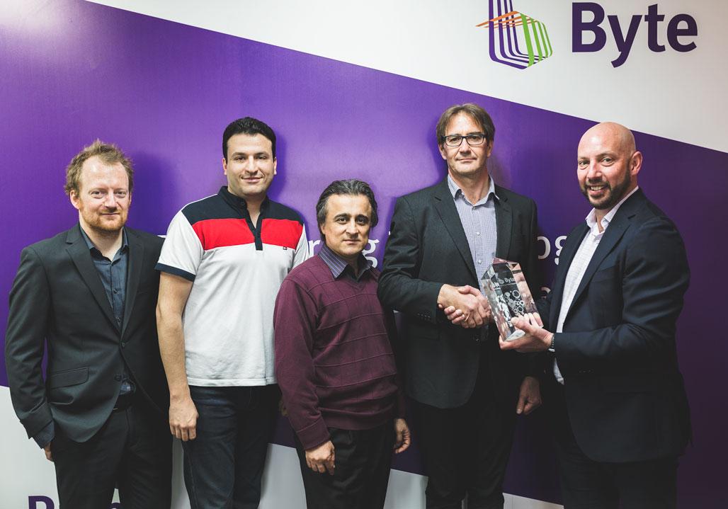 Byte's team receiving the ScienceLogic Award.jpg